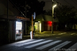 I found it interesting how the vending machines lit up the street more than the light poles at time.